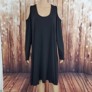 Karen Kane Dress Long Sleeve 1X Cold Shoulder